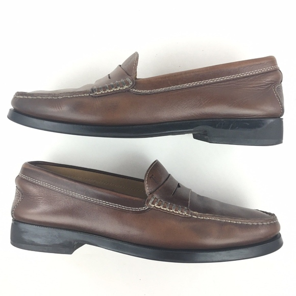 9f1e3fcdbcdbe Tods Penny Moc Loafers Brown Leather Size 9